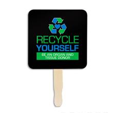 Recycle Yourself Hand Fan, Custom