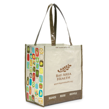 Laminated Non-Woven Recycled Shopper, Natural