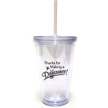 Appreciate All You Do Acrylic Tumbler w Straw, Stock
