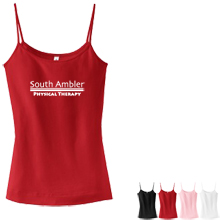 District Threads® - Junior Ladies Perfect Fit 1x1 Spaghetti Strap Tank
