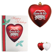 Heart Satin Finish Unbreakable Ornament