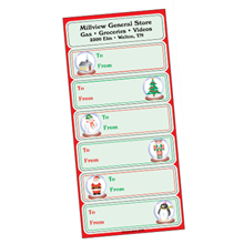 Holiday Gift Tags - Snow Globes