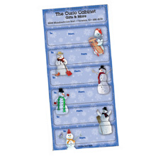 Holiday Gift Tags - Snowman Theme