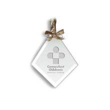 Diamond Shaped Jade Ornament - Deep Etched