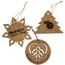 Custom Laser-Cut Wood Ornaments