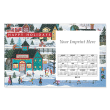 Perfed Postcard Magnet -  Holiday Folk Art