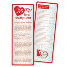 Healthy Heart Bookmark, Stock