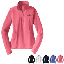 Sport-Tek® - Ladies Sport-Wick® Stretch 1/2-Zip Pullover