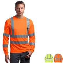 CornerStone® - ANSI Class 3 Long Sleeve Snag-Resistant Reflective T-Shirt