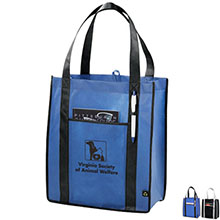 Contrast Carry All Non-Woven Grocery Tote