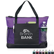 Windom Zippered Polycanvas Tote - Free Set Up Charges!