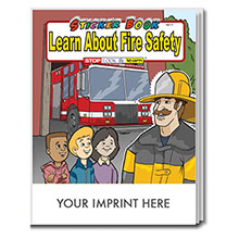 Learn About Fire Safety Sticker & Coloring Activity Book