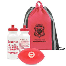 Reflective Stripe Non-Woven Backpack Kit, Fire - Stock