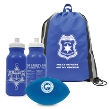 Reflective Stripe Non-Woven Backpack Kit, Police - Stock