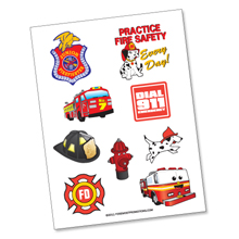 Fire Safety Tattoo Sheet, Stock