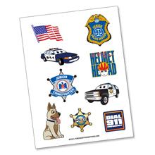 Public Safety Tattoo Sheet, Stock