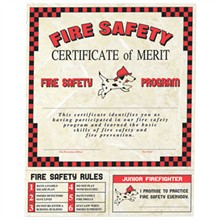 Fire Safety Certificate, Stock - Closeout!