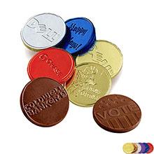 "Belgian Chocolate Embossed Coin, 1-1/2"""
