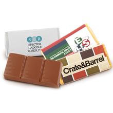 Belgian Chocolate Bar w/ Full Color Wrapper, 1 oz.