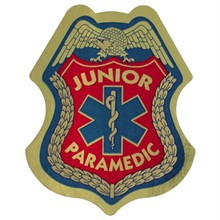 Junior Paramedic Foil Sticker Badge, Stock