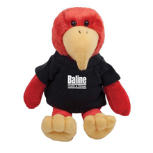 "Cardinal Plush Mascot, 8"""