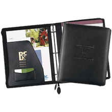 Exec-u-Line Leather Zippered Ring Binder