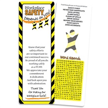 Workplace Safety Puzzle Bookmark, stock