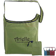 Fold-Away Recycled PET Sling Tote