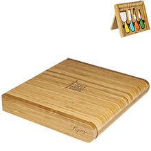 Carnaval Folding Cutting Board w/ Cheese Tools