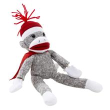 Flying Shrieking Plush Sock Monkey