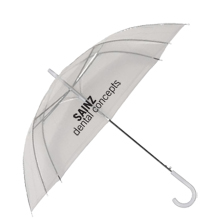"Clear Auto Open Umbrella, 46"" Arc"