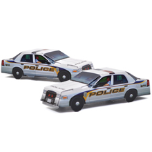 Pop Up Police Car, Stock