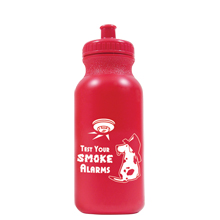 Test Your Smoke Alarms Bike Bottle, 20oz., Stock