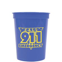Call 911 Emergency Stadium Cup, Stock, 16oz.