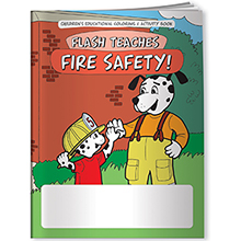 Flash Teaches Fire Safety Coloring Book, Stock