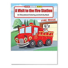 A Visit To The Fire Station Coloring Book, Stock
