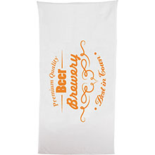 Classic White Light Weight Beach Towel, 8 lbs.