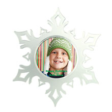 """Snap-In Photo Snowflake, 4-3/4"""" x 5-1/2"""""""