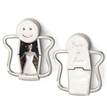 Happy Face Photo Key Holder