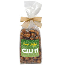 Chocolate Peanut Butter Crunch Popcorn in Elegant Bow Bag