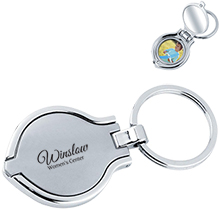 Round Photo Frame/Mirror Key Chain