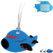 Airplane Soft PVC Luggage Tag