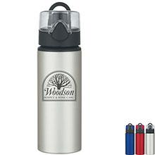 Aluminum Sports Bottle With Pop-Up Lid, 25oz.