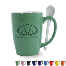 Ceramic Mug & Spoon Set, 16 oz.