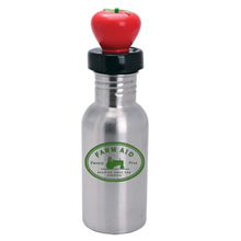 Stainless Bottle w/ Apple Lid, 17oz.