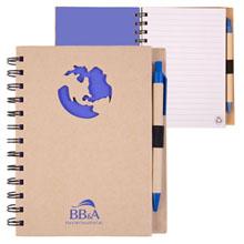 Recycled Die Cut Globe Notebook