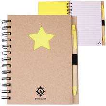 Recycled Die Cut Star Notebook