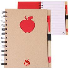 Recycled Die Cut Apple Notebook