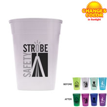 Sun Fun UV Color Changing Stadium Cup, 17 oz., BPA Free