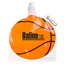 HydroPouch™ Collapsible Water Bottle - Basketball, 24oz., BPA Free